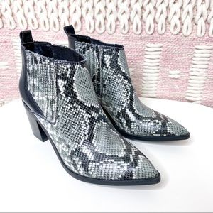 Marc Fisher Snake Rental Ankle Booties Size US 9